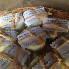 Goats milk & peppermint Soap