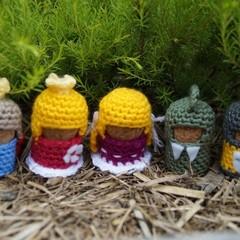Royal Set of Crochet Cork Characters