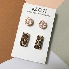 2 pack of Polymer clay stud earrings