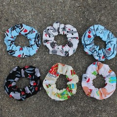 The Devonport Scrunchie in Various Christmas Aussie Animal Prints