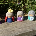 Royal Set of Crochet Cork Characters