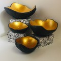 Black and Gold Coloured Concrete Orbs/Bowls