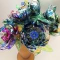 Ecofriendly blooms - peacock tones