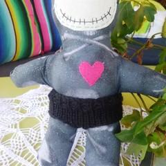 Voodoo doll - black and grey