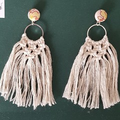 FREE POST!!  Macrame Boho Fringe Earrings