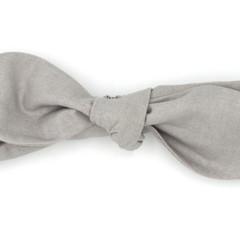 Neutral Grey Top Knot Headband