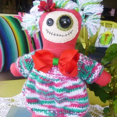 Christmas voodoo doll