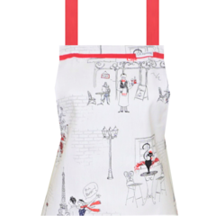 Paris Cafe Womens Kitchen Apron