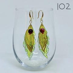 Gum Leaves Earrings - three slightly different styles