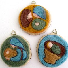 Needle felted Nativity Set, ornaments, Christmas decoration, hanging tree decor