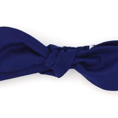 Navy Top Knot Headband