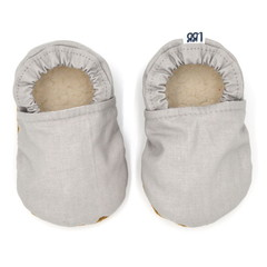 Neutral Grey Soft Sole Baby Shoes