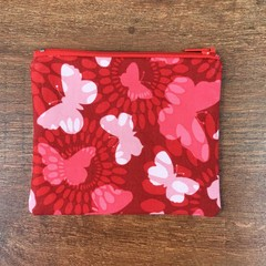 Coin Purse - Red Butterfly