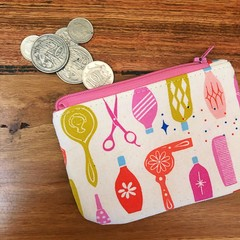 Coin purse - beauty shop