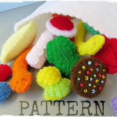 Pattern - Mixed Lollies - Felt play food - Pick and Mix Aussie  candy sweets