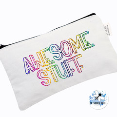 Personalised Name Pouch Pencil case Makeup Bag Teacher Student Awesome Stuff