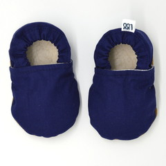Navy Soft Sole Baby Shoes