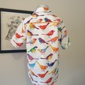 Funky Shirt! Bright rainbow colour birds. Size 6