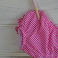 Pink and white gingham frilly bloomers, baby gifts, ruffle pants
