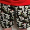 Ladies Christmas Koala Cotton Long Leg Shorts