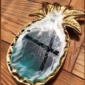 Resin Ocean Pineapple Trinket Dish