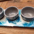 Dip Tray with 3 Bowls - Resin