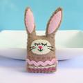 Sleepy bunny Magnet or Brooch - Wool Felt Rabbit - Easter