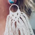 FREE POST!! Macrame Boho Fringe Earrings