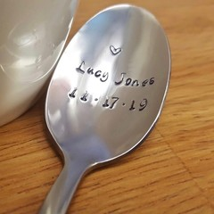 Custom Name Spoon, Birth Announcement, Christening, Baptism,Godparent