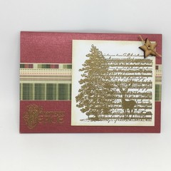 Christmas Card - Gold Embossed Collage