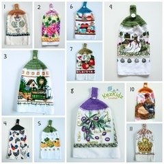 Vintage Crochet Top Single Hand Towel Kitchen Towel Tea Towel