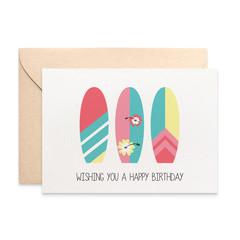 Birthday Card Female, Surfboards Female, Beach Lover Card, HBF173