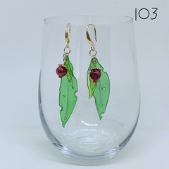 Gum Leaves Earrings - five slightly different styles