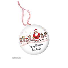 Personalised Christmas decorations - Dance Santa