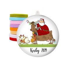 Personalised Christmas decorations - Farm Santa