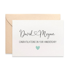 Personalised Anniversary Card, Custom Wedding Anniversary Card, HWA020