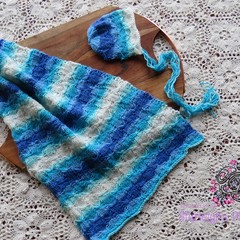 newborn wrap and matching bonnet