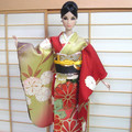 doll clothes silk kimono for Poppy Parker 12.5 in doll handmade