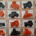 Construction truck shaped crayons - 15 individually wrapped crayons
