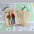 Framed Vintage / Retro Illustrated Fashion Sewing Pattern with Pattern / 6690