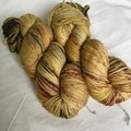 4ply hand dyed Australian merino/nylon sock yarn 390m 100g 'butterscotch'