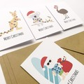 Australian Christmas Mini Gift Card Pack and Envelopes, GC14