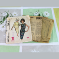 Framed Vintage / Retro Illustrated Fashion Sewing Pattern with Pattern / 7369