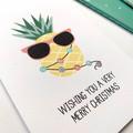 Pineapple Christmas Card, Australian Christmas Card, XMS043