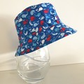 Boys summer hat in mini whale fabric