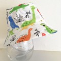 Boys summer hat in happy dino fabric