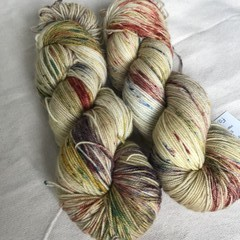 4ply hand dyed Australian merino/nylon sock yarn 390m 100g 'fairy bread'