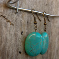 Oval Turquoise Stone Earrings