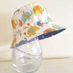 Boys summer hat in sweet elephant fabric