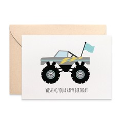 Monster Truck Card, Boy Birthday Card, Cards for Boys, HBC227